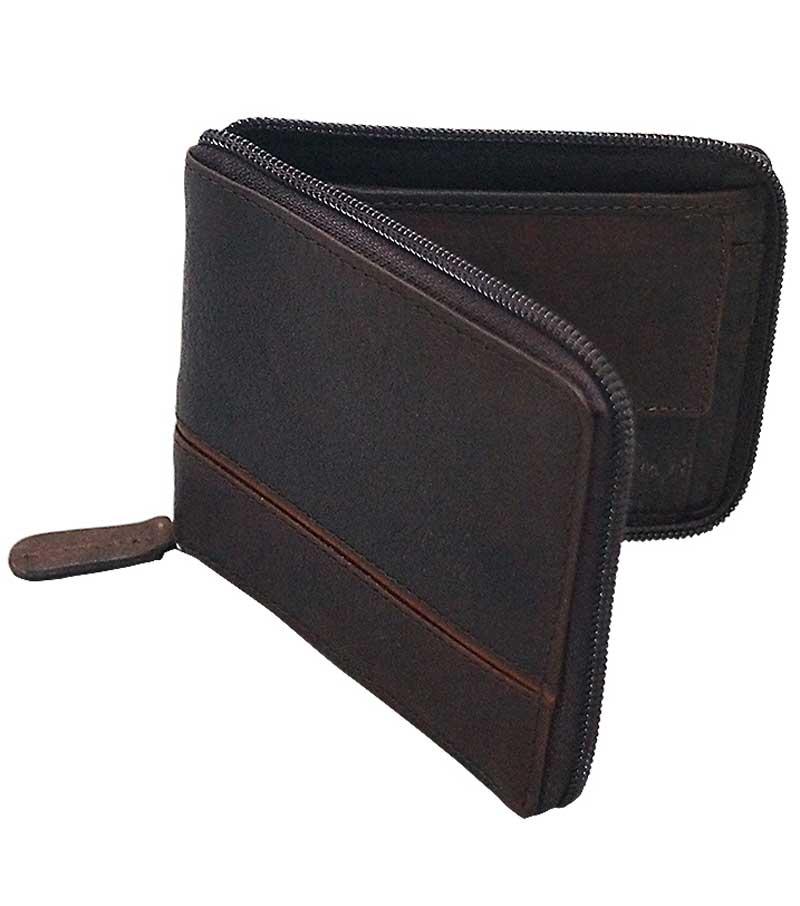 Panama Brown Zip Wallet