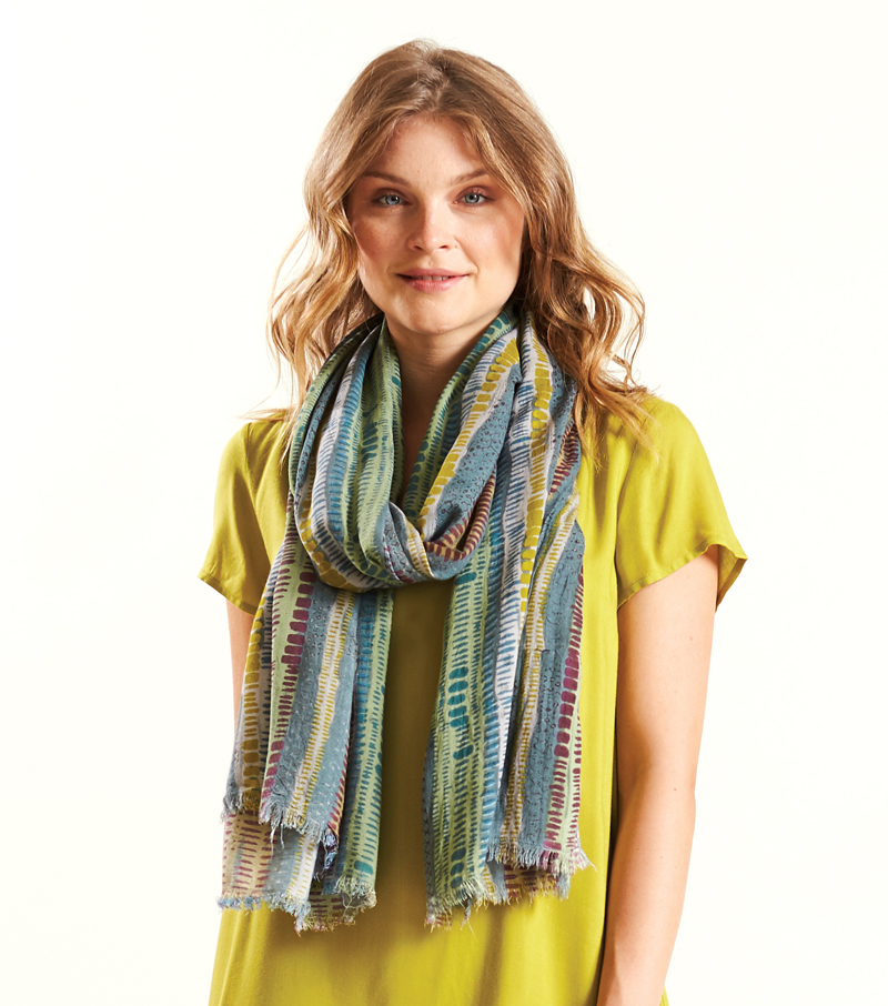 Stripe Viscose Scarf
