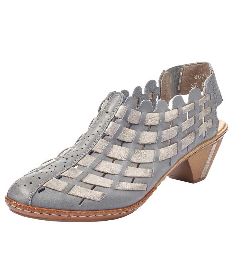 Woven Design Heeled Sandal