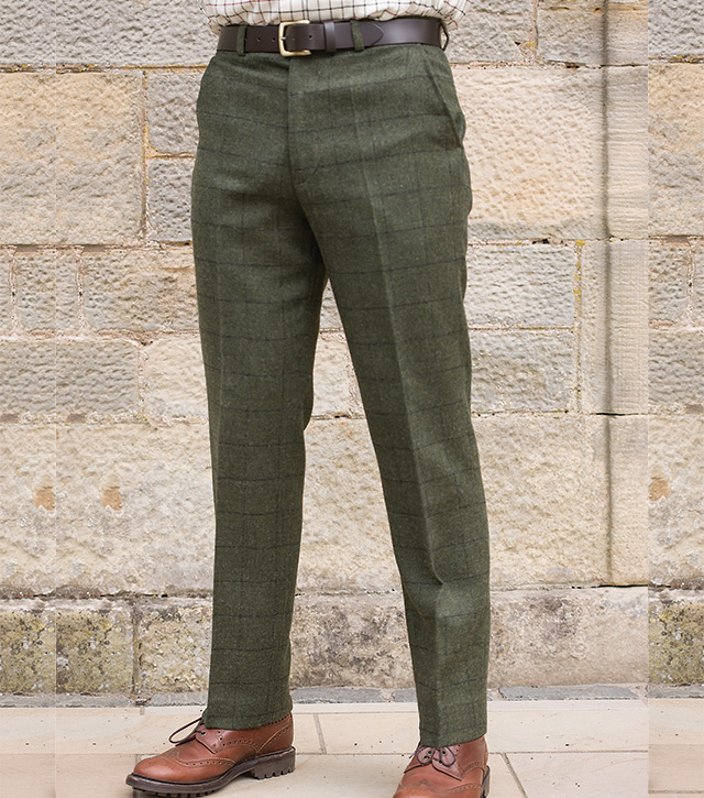 jura tweed checked trouser tweeds from fife country