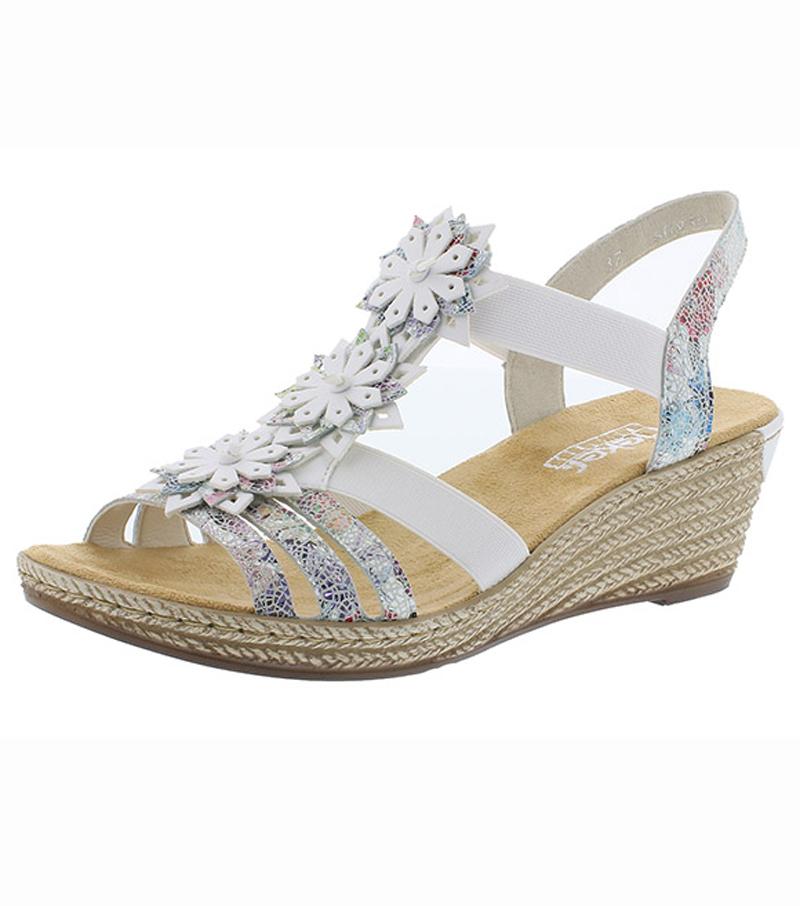 Flower Design Wedge Sandal