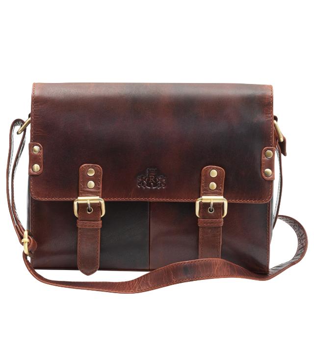 389b25d47b Leather Satchel Bag by Rowallan