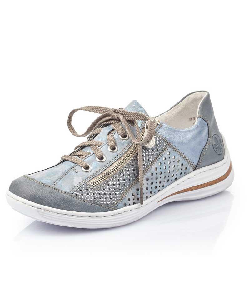 Side Zip Casual Lace Shoe