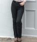 Straight Leg Moleskin Jeans Black