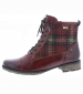Tartan Check Lace Up Boot Red