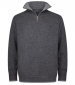 1/4 Zip Lambswool Sweater Charcoal