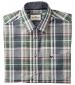 Kent Shirt Turquoise/Tan Check