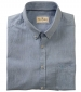 Ayr Cotton/Linen Short Sleeved Shirt Mid Blue