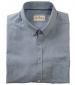 Ayr Cotton/Linen Short Sleeved Shirt Mid Blue