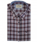 Short Sleeve Oxford Check Shirt White/Red