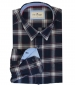 Twill Check Shirt Navy