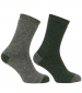 Country Short Sock Twinpack Tweed/ Loden