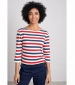 Sailor 3/4 Sleeve Top Duet Cornish