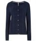 Sara Cable Knit Cardigan Dark Navy