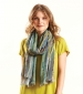 Stripe Viscose Scarf Multi
