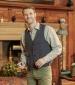 Lewis Harris Tweed Waistcoat Blue Check