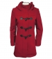 Wool Rich Duffle Coat Red