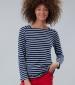 Matilde Long Sleeve Top Navy/ Cream