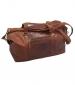 Leather Travel Bag Cognac