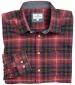 Pitmedden Flannel Shirt Rust/ Navy Check
