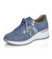 Side Zip Trainer Shoe Navy