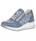 Floral Print Trainer Light Blue