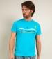 Kitesurfers T Shirt Turquoise