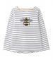 Joules Harbour Luxe Top Bee Embellishment